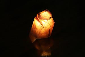 手漉き和紙のおすわりネコ 茶(柿渋)