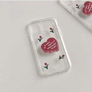 [MAZZZZY]  tulip ♥ cake クリア iPhoneケース (iPhone7/8,X/Xs,XR,11)