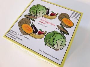 神経衰弱カードゲーム 果物と野菜メモリーマッチ【 Fruit and Vegetable Match】英単語記憶にも!