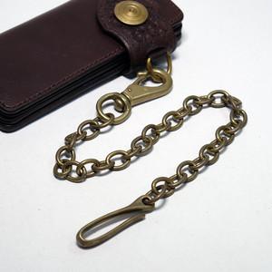 真鍮(ブラス)ウォレットチェーン:バレル加工済み 3.5mm 小判(コバン)チェーン