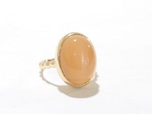 K10YG Orange Moon Stone