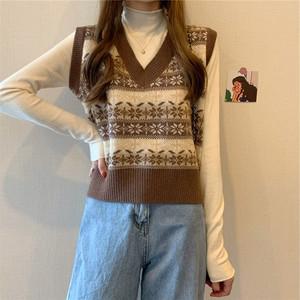 〈カフェシリーズ〉ノルディックニットベスト【Nordic knit vest】