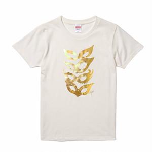 【LADY'S MASKS】Women's, Gold+Vanilla white / ウィメンズ, ゴールド&バニラホワイト
