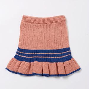 配色モヘアフリルニットスカート