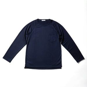 WOOL-LONGSLEEVE-Tshirt ネイビー