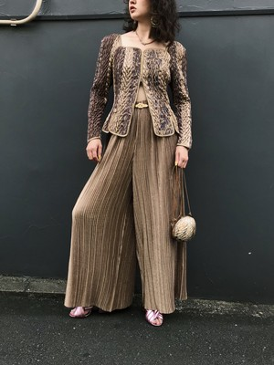 Jeanne marc gold pants suits ( ジェーンマーク ゴールド パンツスーツ )
