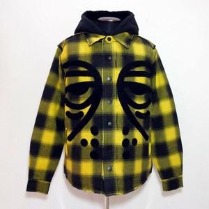 19FW マスクド プラッド ジャケット イエロー / ブラック:Haculla ハキュラ