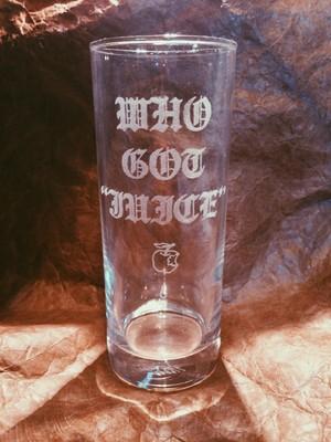 WHO GOT JUICE Glass APPLE