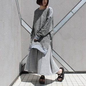 Long-slit-Sleeve-dress (grey)
