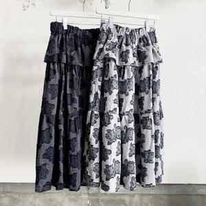 peplum flower tiered skirt