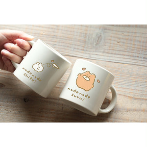 なでウサ&くまのペアマグカップセット♡(MK-053)