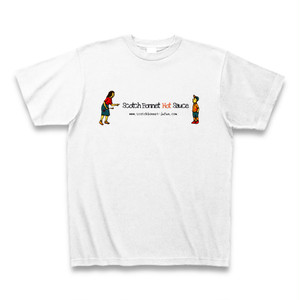 Scotch Bonnet Hot Sauce Mom&Son Tシャツ(ホワイト)
