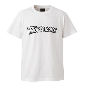 TWOPLATOONS LOGO T / WHITE×BLACK