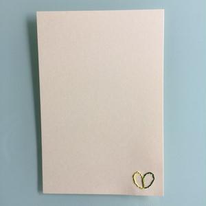 刺繍ポストカード(初恋)