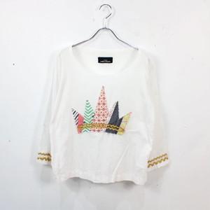 tricot COMME des GARCONS / トリココムデギャルソン | 王冠刺繍プルオーバーシャツ | ホワイト