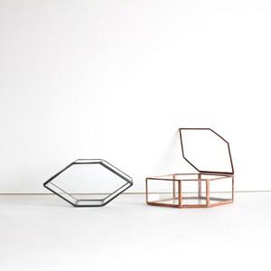 結晶構造ガラスケース [ Prehnite, ぶどう石 / クリアガラス ]