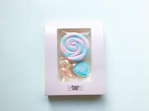 ロリポップクッキー(HI!) ピンク×水色