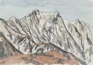 水彩#3「雪山」F4号