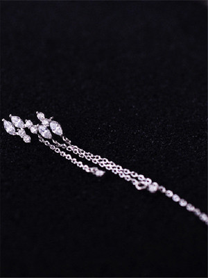 【accessories】Long fashion sterling silver earrings