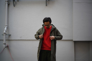 BURLAP OUTFITTER / MICRO FLEECE HOODED COAT