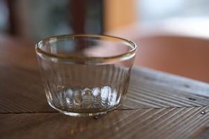 【カンナカガラス工房◆村松学】◆◆◆デザートカップ◆◆口巻*アンバー◆◆◆】