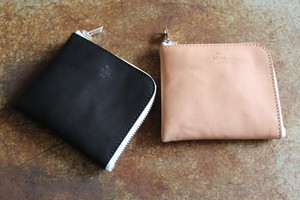 20/80 / TOCHI LEATHER L ZIP WALLET WITH ROSE SILVER ZIP