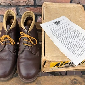 1970s Deadstock Dr.Martens 3 Eyelet Boots Made in England UK8