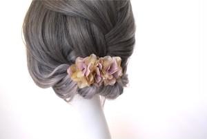 フラワーヘアクリップL 『cream lavender』
