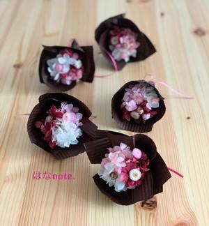 ミニミニブーケ 花束 10個セット《ピンク系》プリザーブドフラワー