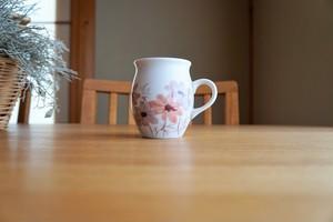 砥部焼/マグカップ/コスモス/赤/きよし窯