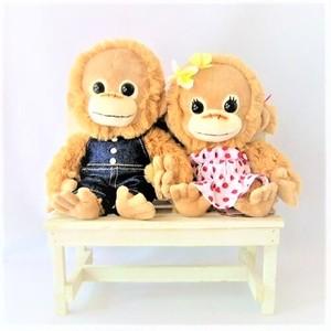 BABY COCO ロコ オーバーオール &モコ ドットワンピース SSぬいぐるみ 木製ベンチ付き