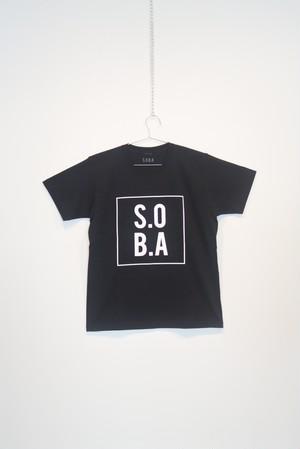 S.O.B.A フロントBOXプリントTシャツ