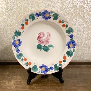 ハンガリー   ピンクの薔薇の飾り皿