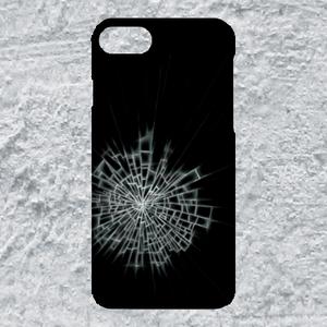 【iPhone8plus/7plus対応】ガラスひび割れハードケース#割れてる!デザイン