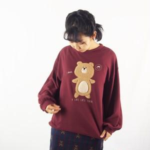 カフェラテくまボア刺繍PO(プラム)#322037