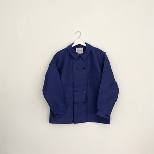 LE SANS PAREIL DOUBLE BREASTED MOLESKIN WORK JACKET-NAVY-