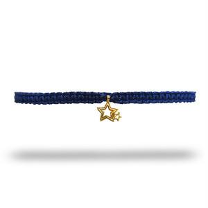 【無料ギフト包装/送料無料/限定】K18 Gold Indian Stella Anklet Navy×Black【品番 20S2004】