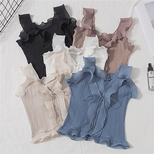 volume frill camisole 5color