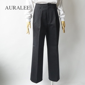 AURALEE/オーラリー・WASHED FINX CHINO WIDE TUCK PANTS