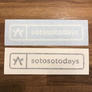 sotosotodays オリジナルカッティングステッカー 2色セット