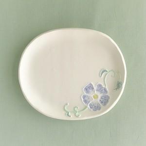 いっちん花楕円小皿