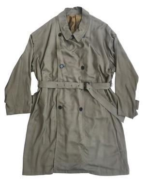 circa make scarf neck band wide trench coat / olive (genderless)
