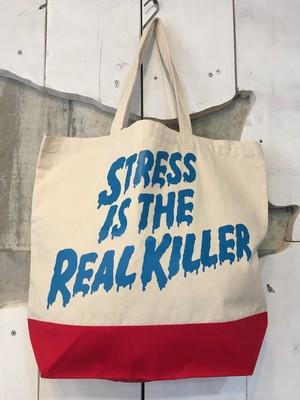 STRESS IS THE REAL KILLER レギュラー キャンバス トートバッグ(L)