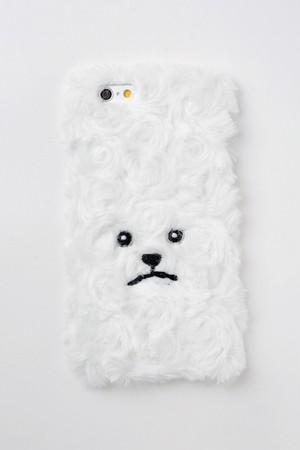 【iPhone6/6S専用】トイプードルiPhone6ハードケース巻き毛【ホワイト】