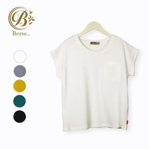 【春夏】丸首半袖 胸ポケット付きTシャツ【レディース】【BM920103】