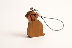 木のストラップ・サル