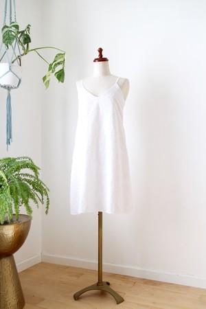 クロスモザイクミニドレス       ホワイト