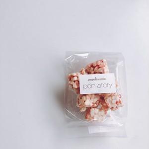 〈お米〉いちごのポン菓子にホワイトチョコレート