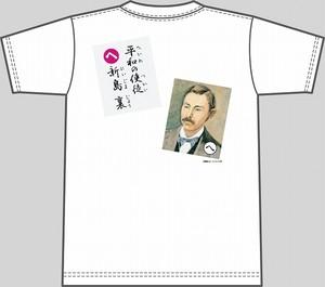 【キッズ】上毛かるた×KING OF JMKオリジナルTシャツ【白・へ】