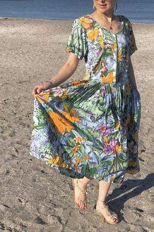 dress / flower green